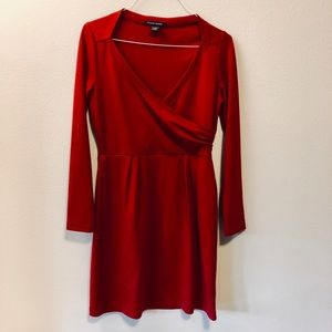 Red Boston Proper Faux Wrap Dress